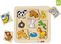 Пазлы для малышей Кто что ест? (9 элементов), Goki (56880)