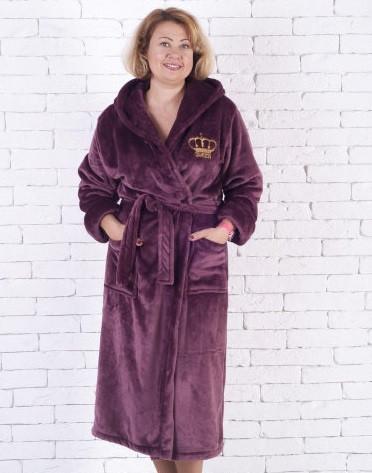e0147ac91f1d3 Женский махровый халат большой-шоколад, цена 787 грн., купить в ...