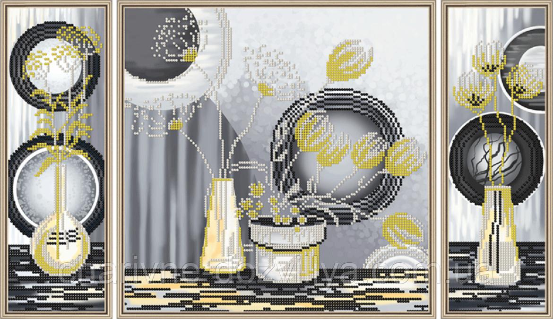 Набор для вышивки бисером Желтые цветы