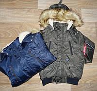 Куртка утепленная для мальчиков оптом S&D 134-164 cм. № KF-29