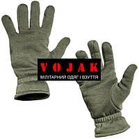 Зимние трикотажные перчатки с внутренним начёсом в расцветке Олива.  Лёгкие, тёплые перчатки для холодного вре