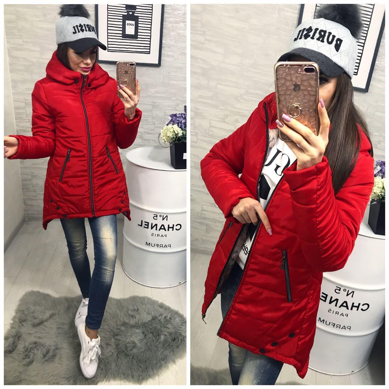 b7a22c60 Куртка парка женская (305) зима красный - купить по лучшей цене в ...