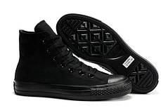 Женские кеды Converse All Star High черные, Конверс Ол Стар, фото 3