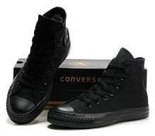 Женские кеды Converse All Star High черные, Конверс Ол Стар, фото 2