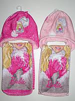 Шапка+шарф для девочек Barbie, 52,54 см.