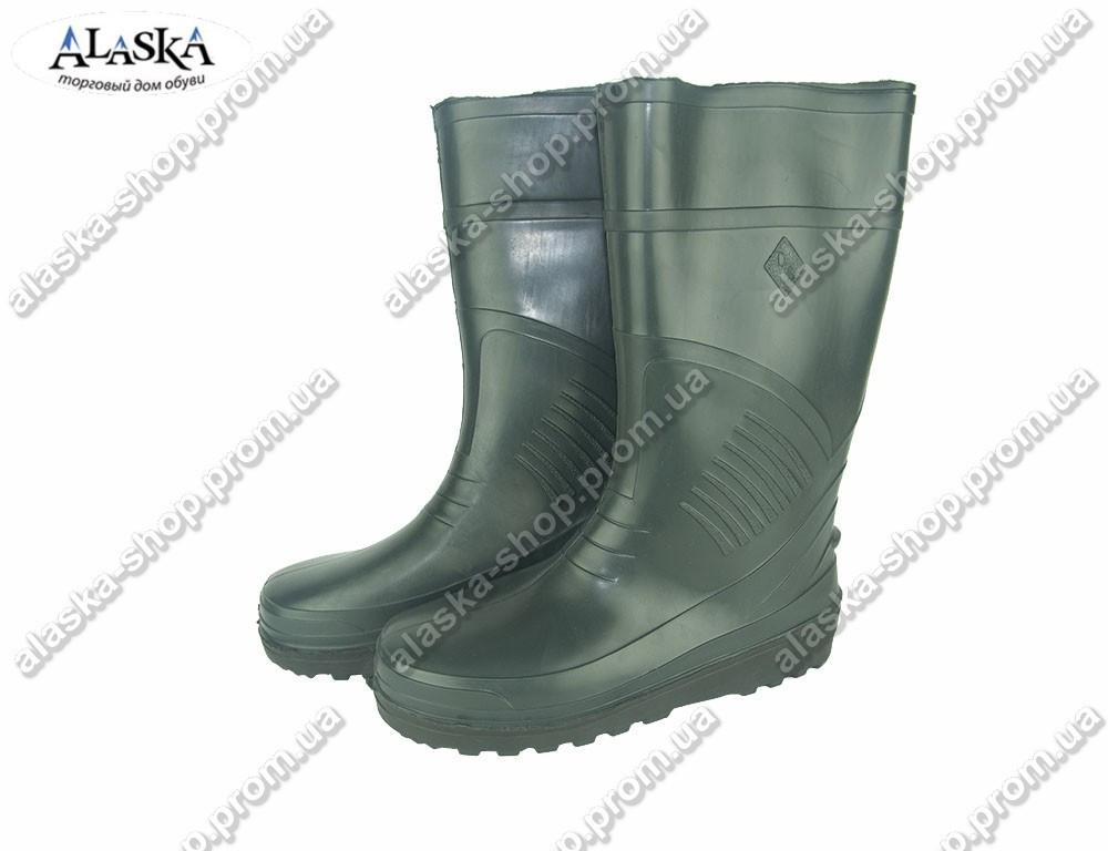 Мужские сапоги зеленые (Код: СМ-01 т.зеленый)
