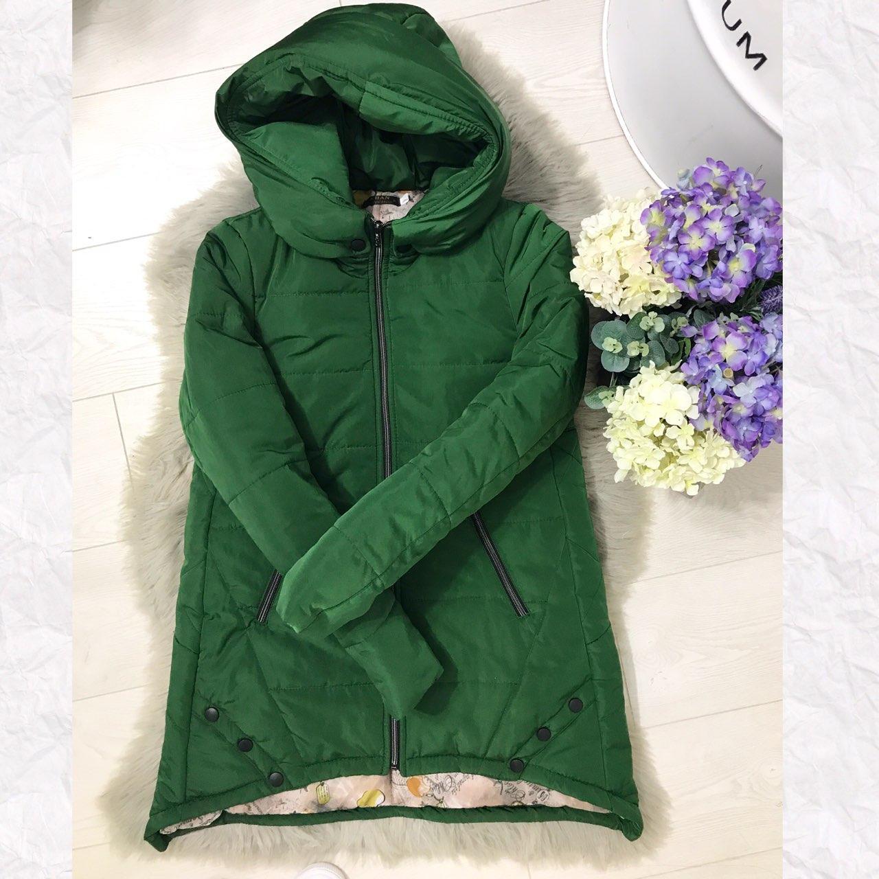Куртка парка женская (305) зима зеленый