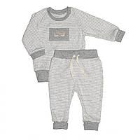 Дизайнерский Костюм Andriana Kids, серый в полоску 18,24,36 мес
