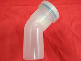 Коліно кут 45 діаметр 60мм конденсаційний димохід