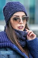 Комплект шапка и шарф женские