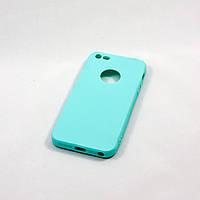 Чехол-накладка Aspor Soft Touch Original Collection iPhone 5/5s/SE (бирюза), фото 1