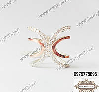 Широкое кольцо из серебра и золота, фото 1