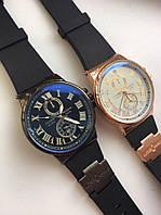 Часы кварцевые каучуковый ремешок