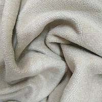Махровая ткань велюр-бамбук натуральная бежевая