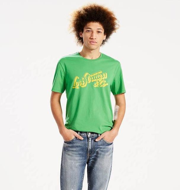 Мужская футболка Levis® Graphic Tee - Medium Green Script