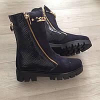 Bertoni демисезонные стильные высокие ботинки натуральный замш