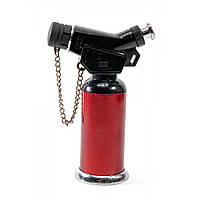 Зажигалка газовая турбо красная блистер 11,5х7,5х4 см (30784)