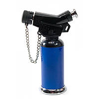 Зажигалка газовая турбо синяя блистер 11,5х7,5х4 см (30784B)