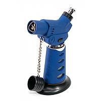 Зажигалка газовая турбо синяя 11,5х8х4.5 см (30791)