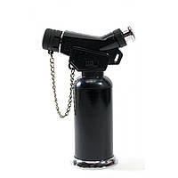 Зажигалка газовая турбо черная блистер 11,5х7,5х4 см (30784A)
