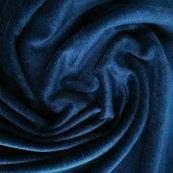 Махровая ткань велюр-бамбук натуральная темно синяя
