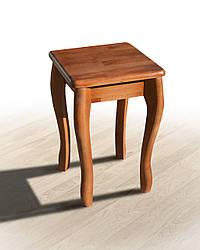 Табурет дерев'яний Смарт на вигнутих ніжках коньяк (бук)