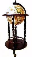 Оригинальный глобус бар напольный на 3х ножках