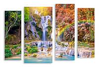 Модульная картина 3д водопад