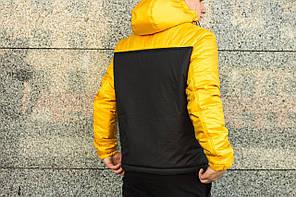 Мужская куртка Nike анорак желто - черная топ реплика, фото 2