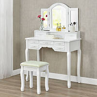 Косметический столик на 3 зеркала и 7 ящиков