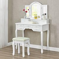 Косметический столик Hannah на 3 зеркала и 7 ящиков