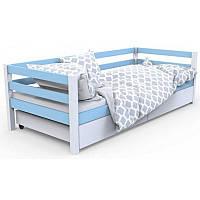 """Детская одноярусная кровать """"Валенсия"""" голубая"""