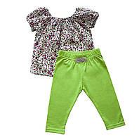 Костюм Andriana Kids для девочки с зелеными штанишками 18,24,36 мес