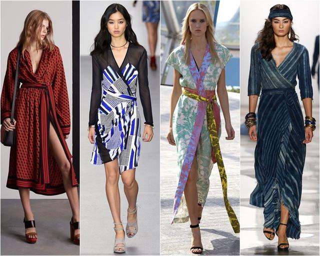f6931ac2b2c Они первыми по достоинству оценили универсальность и практичность модели.  Сейчас платье с запахом шьют из разнообразных тканей и расцветок. По спросу  оно ...