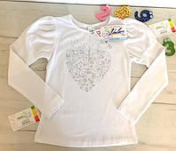 Детский реглан, блузка  для девочки в школу Valeri