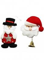 """Игрушка на ёлку """"Дед Мор., Снег.,Олень"""" 20см 6в."""