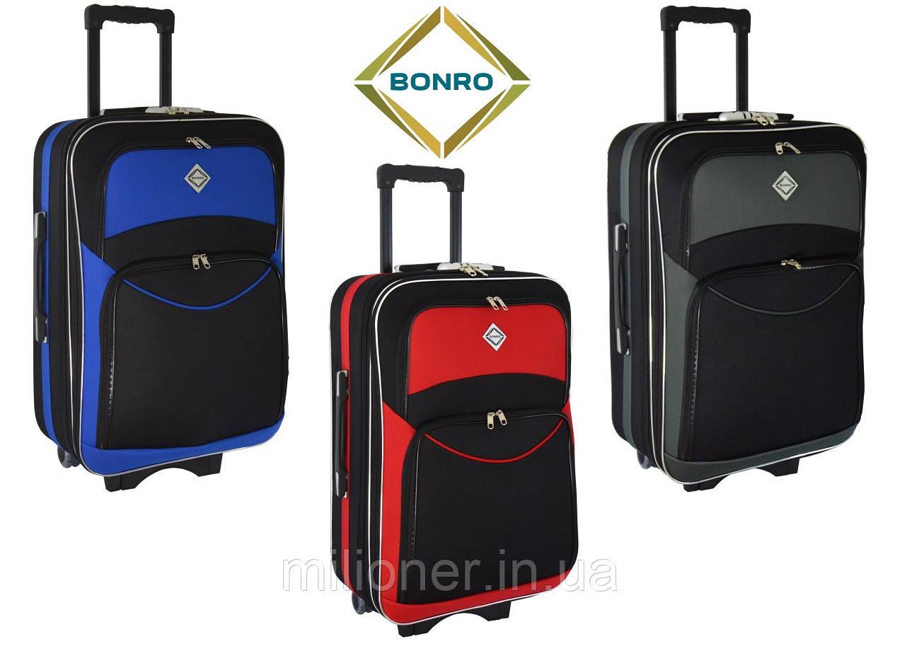 Чемодан Bonro Style (небольшой) черно-синий