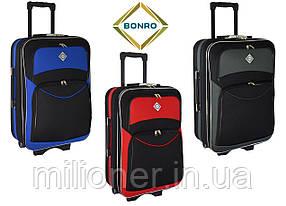 Чемодан Bonro Style (большой) черно-красный