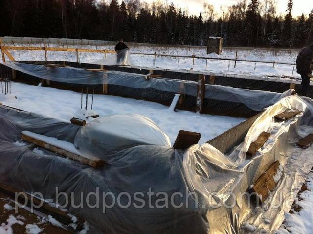 Строительство дома из газобетона, газоблокав зимних условиях.
