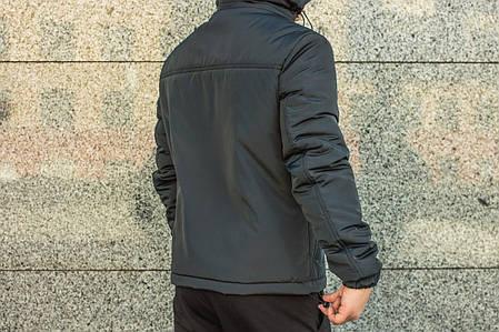 Мужская куртка Nike анорак серая топ реплика, фото 2