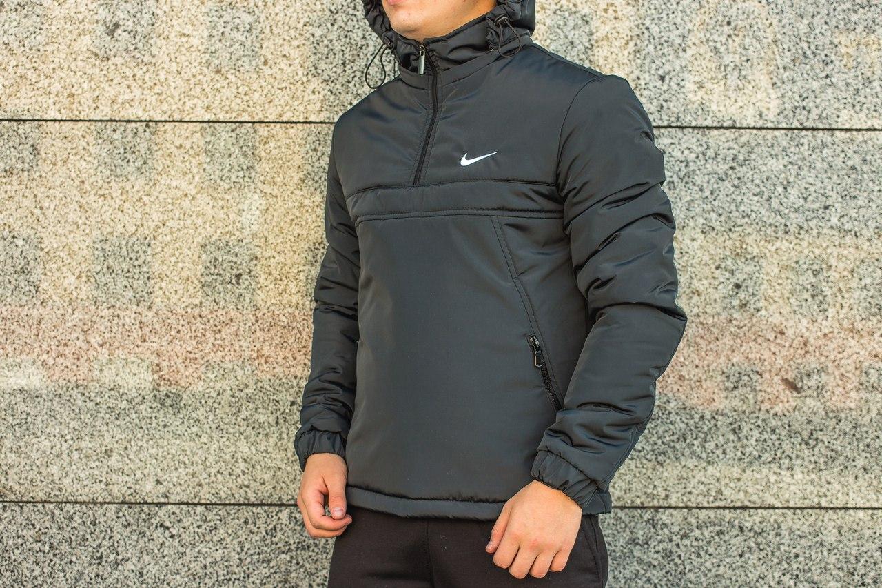 Мужская куртка Nike анорак серая топ реплика