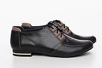 Классические черные женские туфли на небольшом каблуке, фото 1