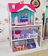 Большой игровой кукольный домик для барби Alicija 121см!