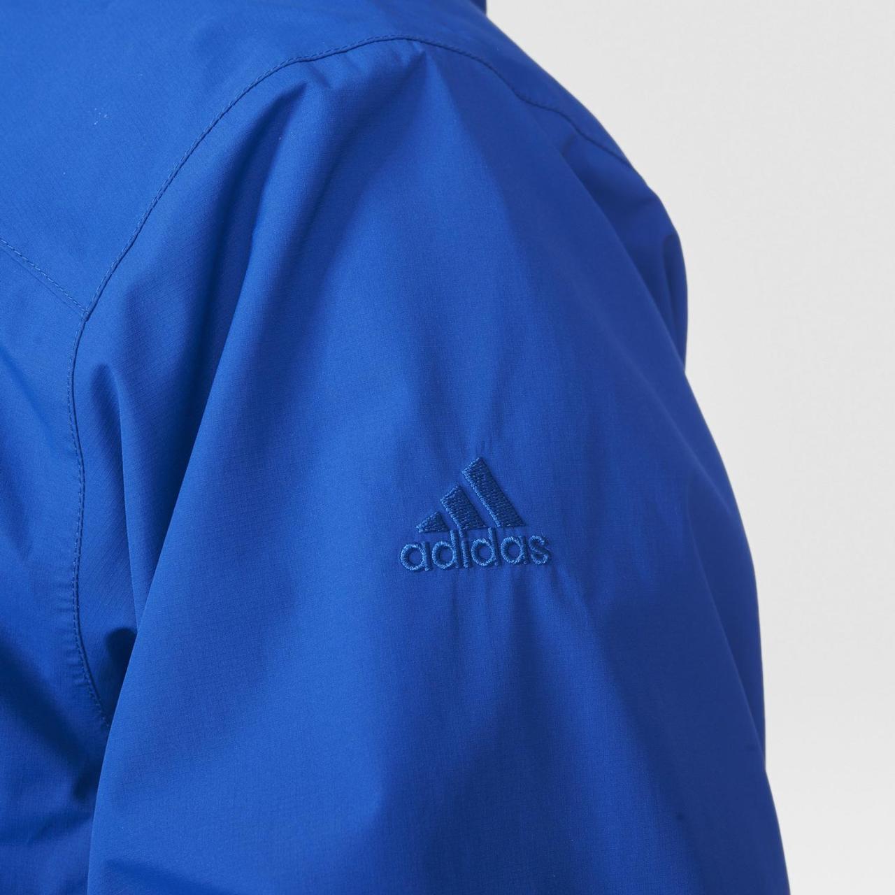 36ae2134 ... с Ветровка спортивная мужская adidas 2L GTX JKT AO2377 (синяя,  непромокаемая, непродуваемая, с