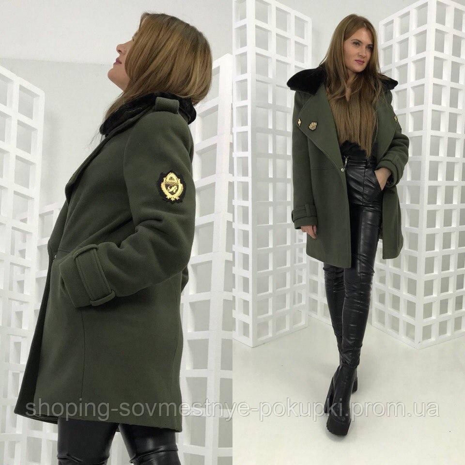 fe88c7b7918 Зимнее ПАЛЬТО MILITARY черное и зеленое) купить в Украине