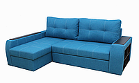 Угловой диван Garnitur.plus Барон голубой 250 см