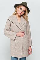 Зимнее пальто «Эйми» вареная шерсть бежевое