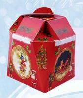 Звоночек новогодний, Картонная упаковка для конфет, 17,5х15х15 см