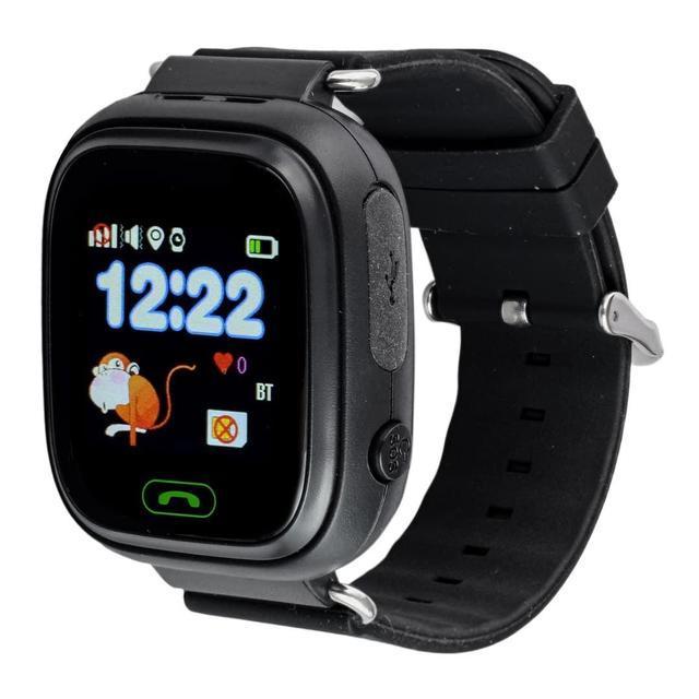 Детские умные часы Q90 с GPS трекером и функцией телефона - Black