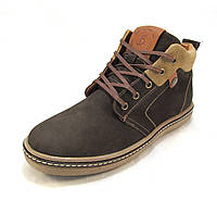 Ботинки  мужские  с мехом BASTION кожаные коричневые (р.41,42,43,45)